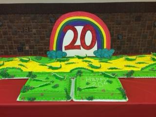 Chorus 20th Anniversary cake