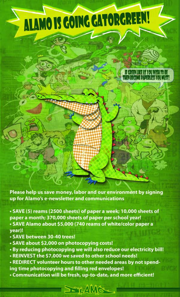 going green flyer